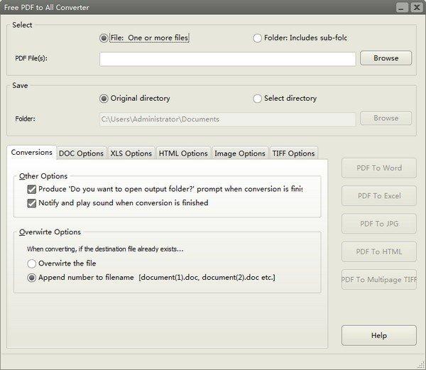 Free PDF to All Converter(免费PDF转换器)下载