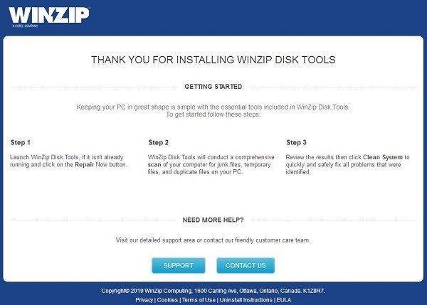WinZip Disk Tools(磁盘垃圾清理工具)