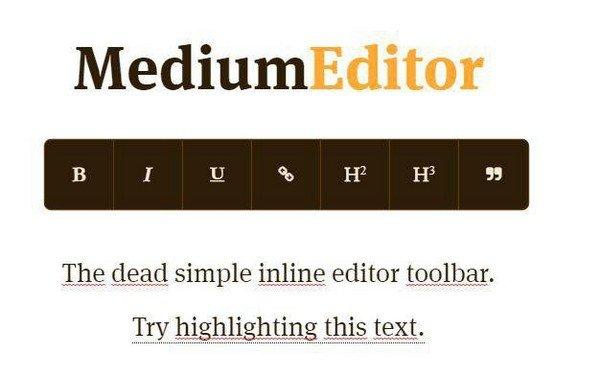MediumEditor(内联编辑器工具栏)