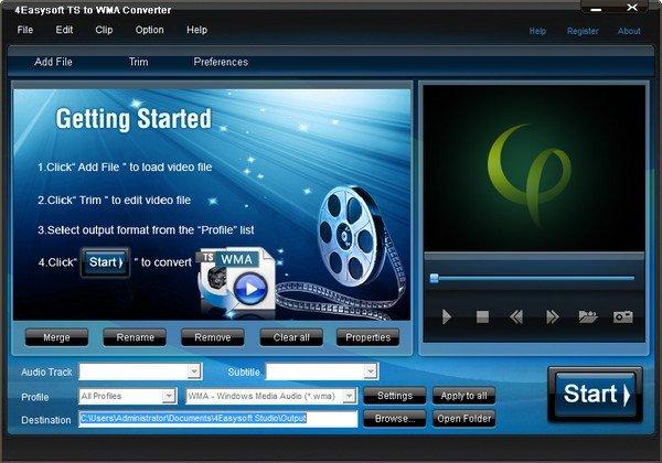 4Easysoft TS to WMA Converter(TS转WMA音频转换器)下载