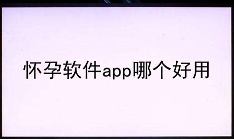 怀孕软件app哪个好用