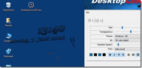 DesktopClock3D(<a href=
