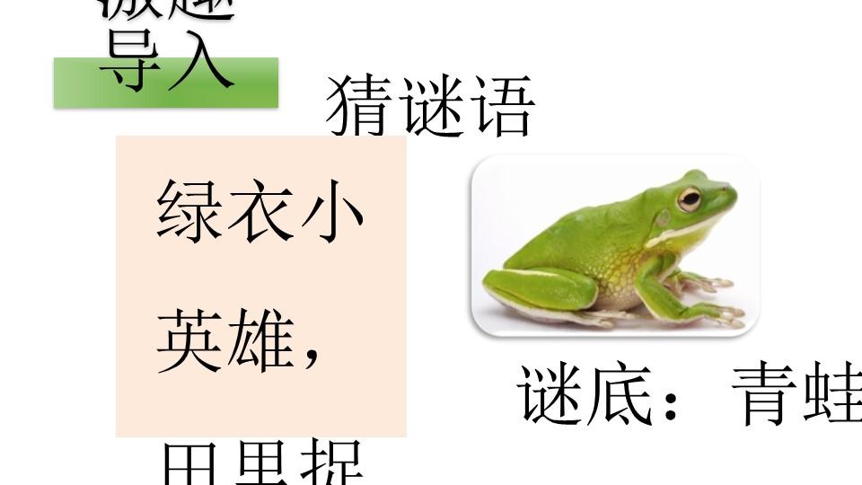 《青蛙卖泥塘》PPT(第一课时)下载