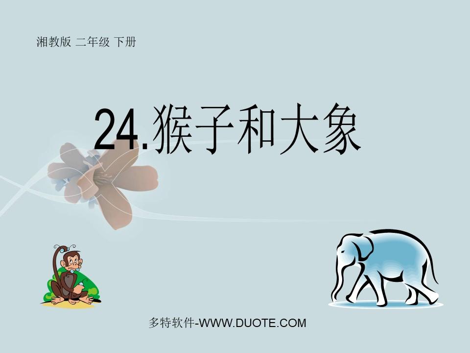 《猴子和大象》PPT课件2下载