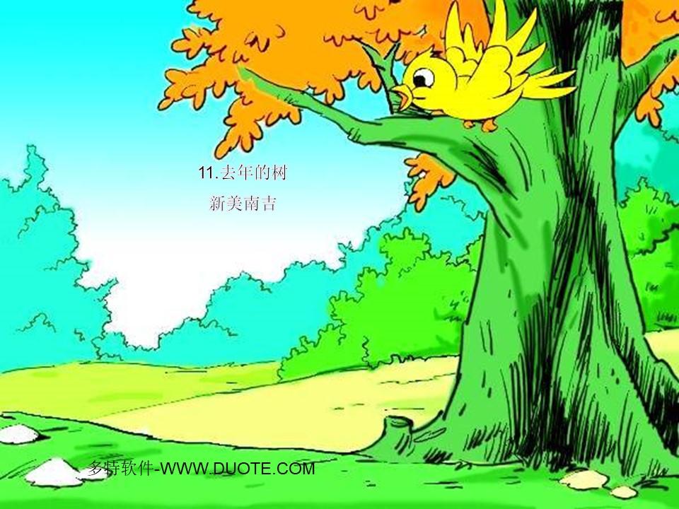 《去年的树》PPT课件下载