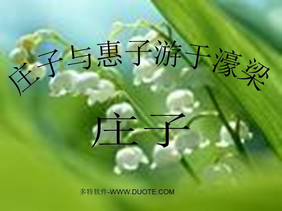 《庄子与惠子游于濠梁》PPT课件下载