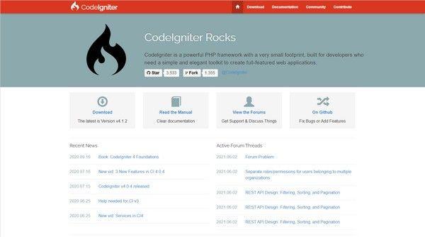 CodeIgniter(小巧PHP框架)下载