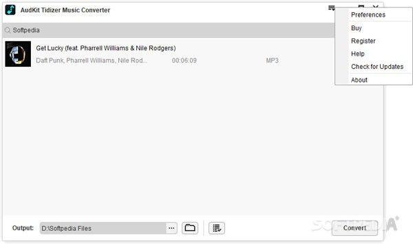 AudKit Tidizer Music Converter(音乐下载转换工具)