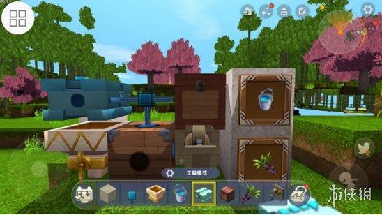 《迷你世界》自动收甘蔗机怎么做