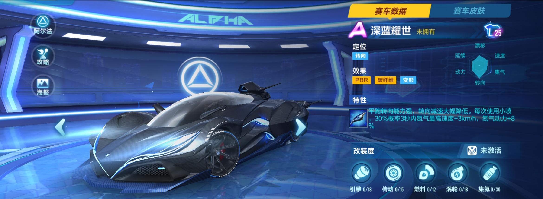 QQ飞车手游新A车深蓝耀世性能如何 深蓝耀世属性解析