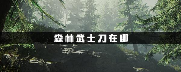 森林武士刀在哪 森林武士刀地图位置 4分钟教你森林找武士刀