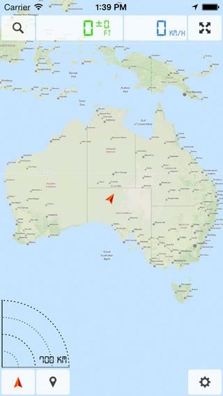 澳大利亚 (澳洲) - 离线地图和GPS导航仪软件截图0