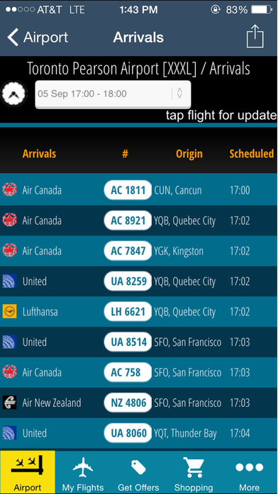 Toronto Airport + Flight Tracker软件截图2