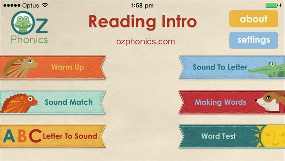Reading Intro by Oz Phonics软件截图1