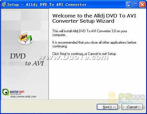 Alldj DVD To AVI converter下载