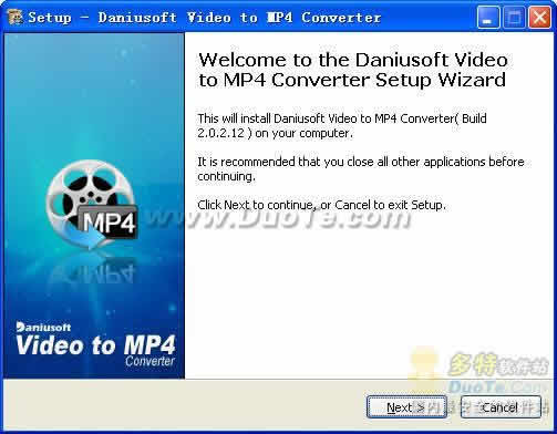 Daniusoft Video to MP4 Converter下载