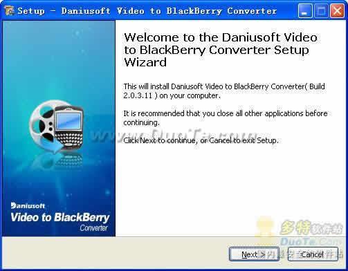Daniusoft Video to BlackBerry Converter下载