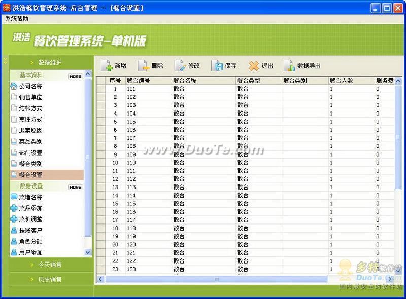 洪浩免费餐饮管理软件下载