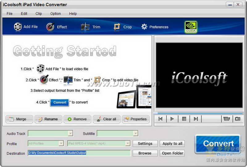 iCoolsoft iPad Video Converter下载