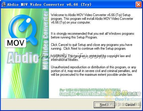 Abdio MOV Video Converter下载