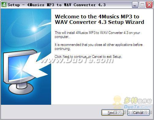 4Musics MP3 to WAV Converter下载