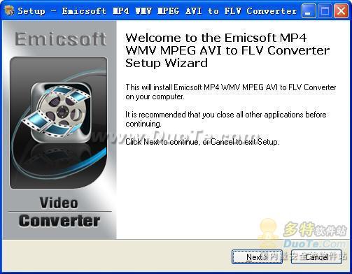 Emicsoft MP4 WMV MPEG AVI to FLV Converter下载