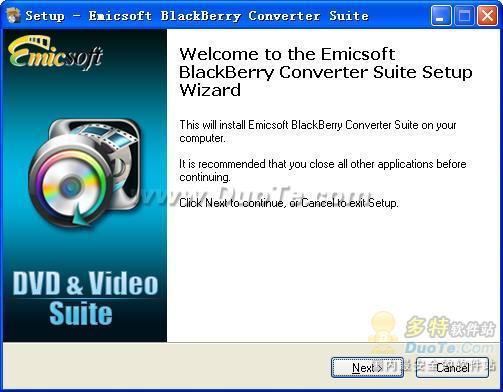 Emicsoft BlackBerry Converter Suite下载