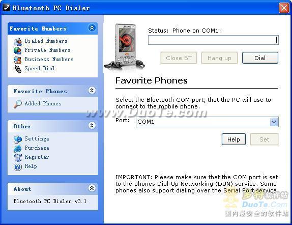 Bluetooth PC Dialer下载