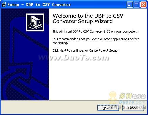 DBF to CSV Converter下载