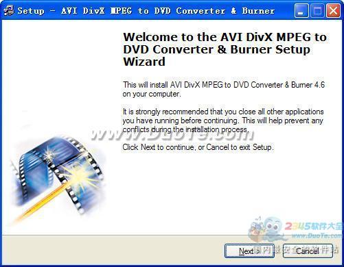 AVI DivX MPEG to DVD Converter & Burner下载