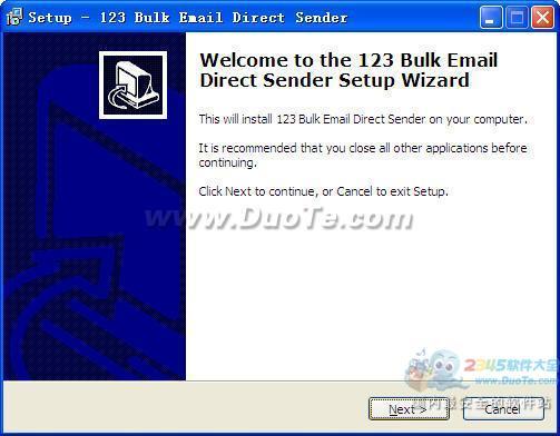 123 Bulk Email Direct Sender下载