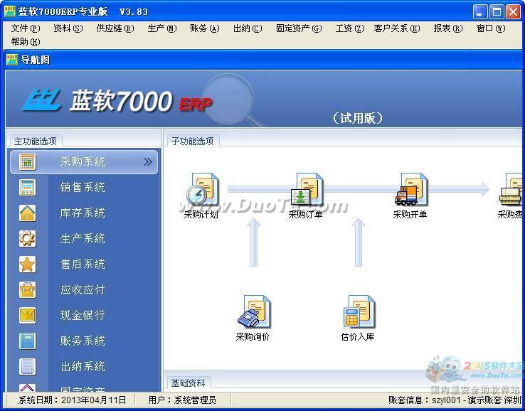 蓝软ERP软件下载