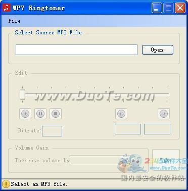 WP7铃声制作软件(WP7 Ringtoner)下载