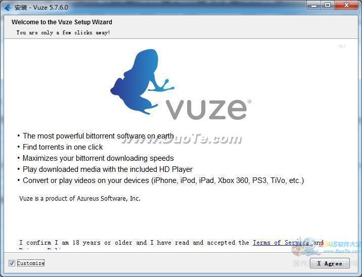 Vuze (formerly Azureus)下载