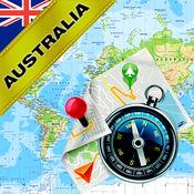 澳大利亚 (澳洲) - 离线地图和GPS导航仪