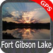 湖:吉布森堡-GPS地图�