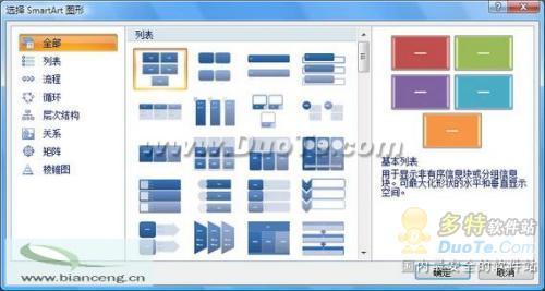 PowerPoint2007将列表文字变图形