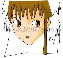 Flash绘画技巧:绘制女孩头像