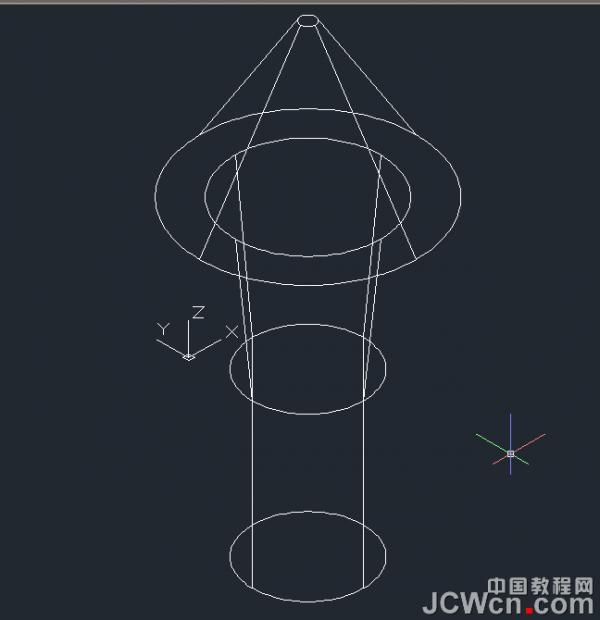 AutoCAD三维建模之弧叉形十字螺丝刀头制作
