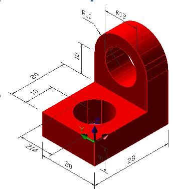 浩辰CAD教程机械之三维实体建模实例