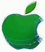Illustrator 8.0基础入门教程之苹果图标制作