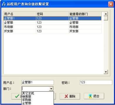 NETKING网络监控管理系统远程用户的查询分级权限设置
