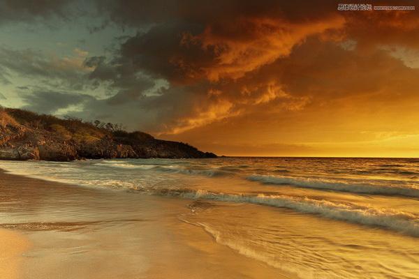 Photoshop调出海边风景照片LOMO效果