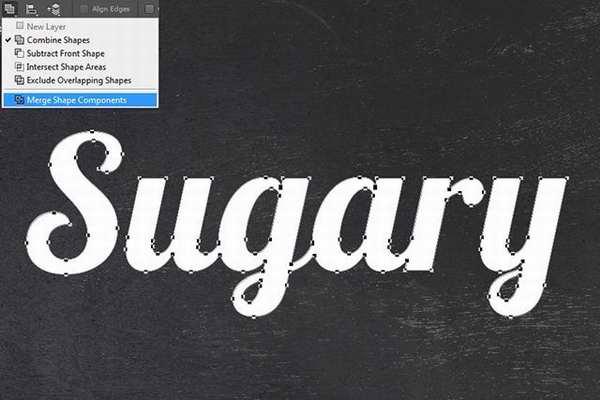 用Photoshop制作结霜的甜糖字效果