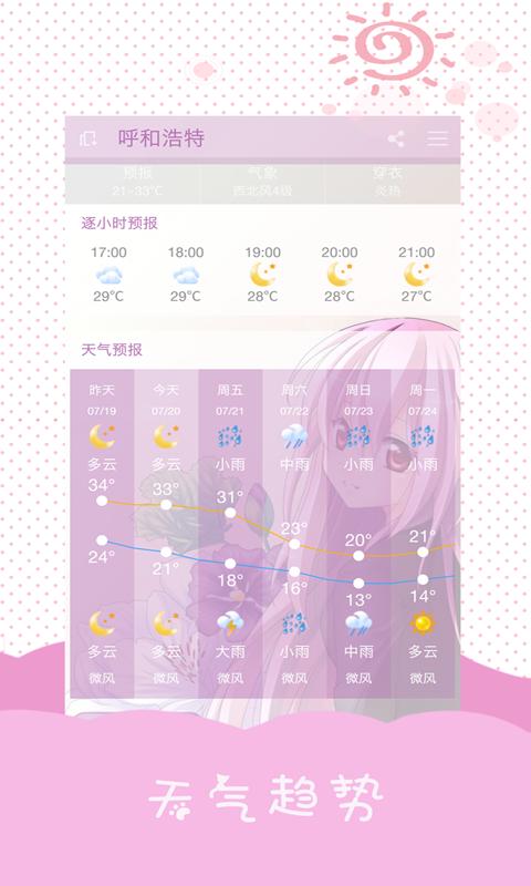 美人天气软件截图1