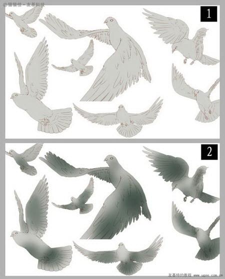 Photoshop鼠绘纯洁的天堂圣女