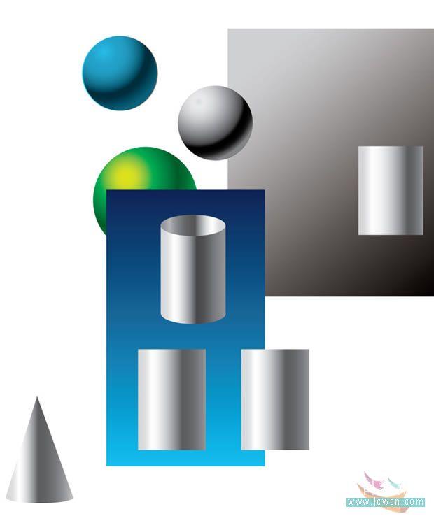 Illustrator之立体感和质感的表现