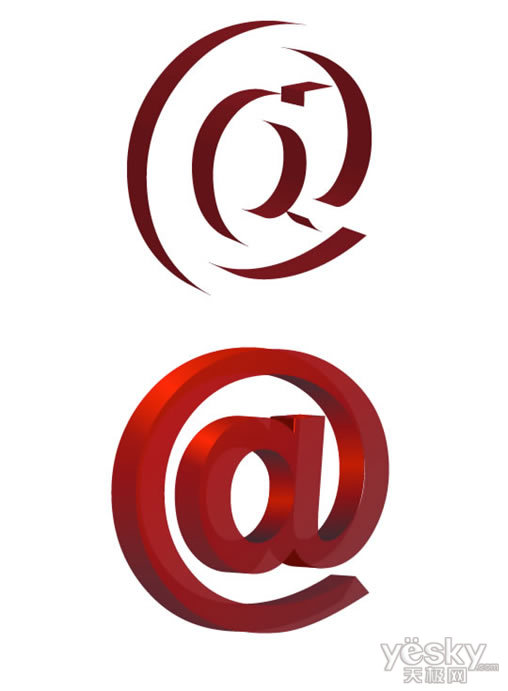 Illustrator绘制精细三维logo