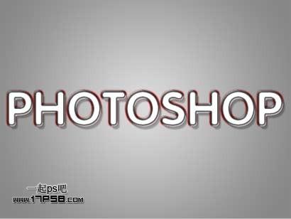 Photoshop彩色斜纹文字特效