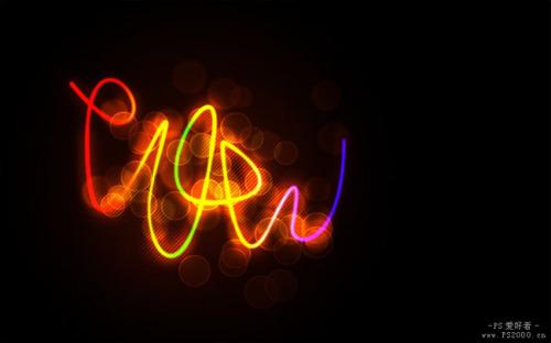 PS文字特效教程之制作超炫的彩色霓虹字